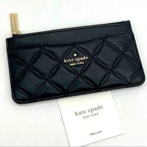 Kate Spade Slim Card Holder Wallet Black